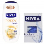 Nivea Happy Time Shower Cream For Women + Loofah Free