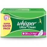 Whisper Sanitary Pad Ultra Clean XL Wings (30S)