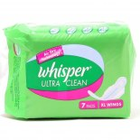 Whisper Sanitary Pad Ultra Clean XL Wings (7S)