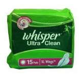 Whisper Sanitary Pad Ultra Clean XL Wings (15S)