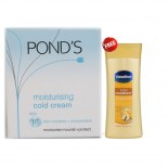 Ponds Moisturising Cold Cream 100ml + Vaseline Total Moisture Body Lotion 40ml Free