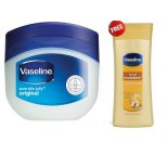 Vaseline  Petroleum Jelly 100gm + Vaseline Total Moisture Body Lotion 40ml Free